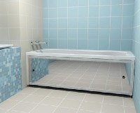 установка экранов в ванной
